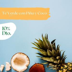 ¡10%𝗱𝗲 𝗱𝗲𝘀𝗰𝘂𝗲𝗻𝘁𝗼! en el TROPICAL SUNSET, nuestro Té VERDE con PIÑA y COCO.  No hace falta que te vayas al Caribe para disfrutar de este té. Cualquier hamaca sirve.  🔸INGREDIENTES: Té verde, piña, coco y aroma 🔸USO: 2 min. a 70° 🔸PESO: 100gr 🔸Nº DE TAZAS: 40 (1 cucharada dosificadora de té por taza)  ¡𝗗𝗶𝘀𝗳𝗿𝘂́𝘁𝗮𝗹𝗼𝗱𝗲𝘀𝗱𝗲𝗵𝗼𝘆𝘆𝗵𝗮𝘀𝘁𝗮𝗲𝗹𝗽𝗿𝗼́𝘅𝗶𝗺𝗼27𝗱𝗲𝗝𝘂𝗻𝗶𝗼𝗰𝗼𝗻𝘂𝗻𝗱𝗲𝘀𝗰𝘂𝗲𝗻𝘁𝗼𝗺𝘂𝘆𝗲𝘀𝗽𝗲𝗰𝗶𝗮𝗹!        #anytimetea#thatstea#téverde#greentea#coconut#pineapple#piña#coco #tropical#descuento#comprarté#descuentoenté#promocionespecial#specialpromo#somosloquecomemos#positivismo#buenaenergia#buenosdeseos#vidadeté#tealife#recetasconté#realfood#realfooding#depurativo#yogalife#alimentacionconsciente#antiinflamatorio#chocolate#cinnamon