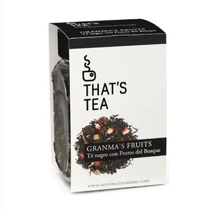 Granma's Fruits 𝗧𝗲́ 𝗡𝗲𝗴𝗿𝗼 𝗰𝗼𝗻 𝗙𝗿𝘂𝘁𝗼𝘀 𝗱𝗲𝗹 𝗕𝗼𝘀𝗾𝘂𝗲.  El té negro se caracteriza por tener un fuerte aroma, no obstante esta combinación té recordará a la mermelada de frutos del bosque recién recogidos que preparaba la abuela de Caperucita. 🍓🍒  El té negro tiene propiedades 𝗮𝗻𝘁𝗶𝗼𝘅𝗶𝗱𝗮𝗻𝘁𝗲𝘀 y 𝗮𝘀𝘁𝗿𝗶𝗻𝗴𝗲𝗻𝘁𝗲𝘀.  𝗜𝗻𝗴𝗿𝗲𝗱𝗶𝗲𝗻𝘁𝗲𝘀: Té negro, saúco, moras, hojas de frambuesa, frambuesas y aroma.  🔸Uso: 4 min. a 95º 🔸Peso: 100gr / 3,53oz.  Nº𝘁𝗮𝘇𝗮𝘀:40(1 cucharada dosificadora de té por taza)  Precio por taza:0,16€  Disfrútalo con un 10% 𝗱𝗲 𝗱𝗲𝘀𝗰𝘂𝗲𝗻𝘁𝗼 hasta el domingo 16 de mayo!  ➡️https://anytimeisteatime.com/es/negro/12-granma-s-fruits.html    #anytimetea#thatstea#frutosdelbosque#infusiondefrutosdelbosque#floresdehibisco#hibiscus#moras#fresas#frambuesa#arandanos#grosellanegra#descuentoenté#promocionespecial#specialpromo#somosloquecomemos#positivismo#slowlife#galletasdeté#healthystyle#recetasoriginales#estilodevidasaludable#realfood#realfooding#ténegro#blacktea#depurativo#accesoriosdeté#alimentacionconsciente#antiinflamatorio#chocolate